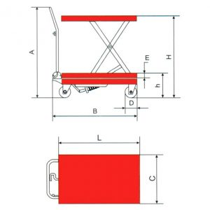 aluminium-scissor-table-SCL-150-ALU-diagram