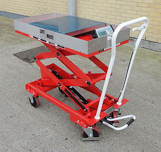 mobile scissor table with scale