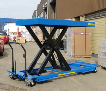special mobile single scissor table 1000x2000