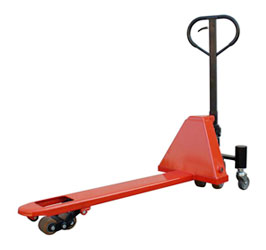 single-narrow-fork-pallet-truck
