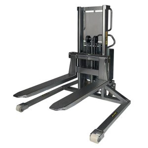 Stainless-steel-semi-electric-straddle-stacker