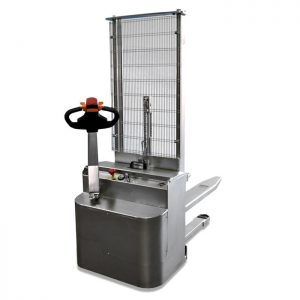Stainless steel powered stacker