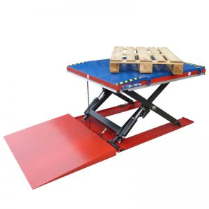 1 ton Pallet Disc Turntable with Square Ramp